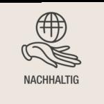 NACHHALTIG Weltkugel Hand