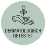 Zweig Hand dermatologisch getestet