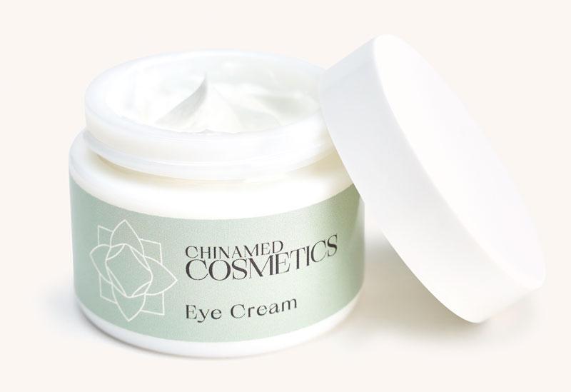 Offener Augencremetiegel mit Deckel von CHINAMED COSMETICS Eye Cream