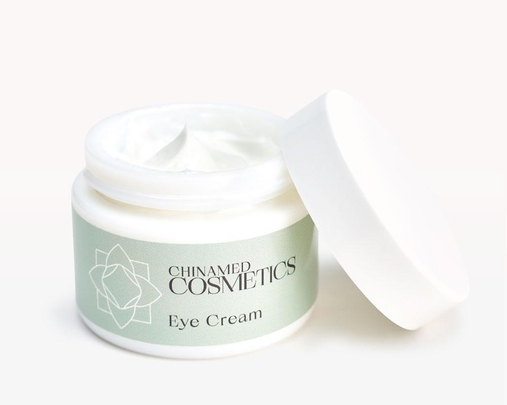 Offener Cremetiegel mit Deckel von CHINAMED COSMETICS Eye Cream